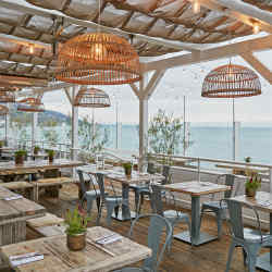 Malibu Farm Restaurant, set on the old pier in Malibu
