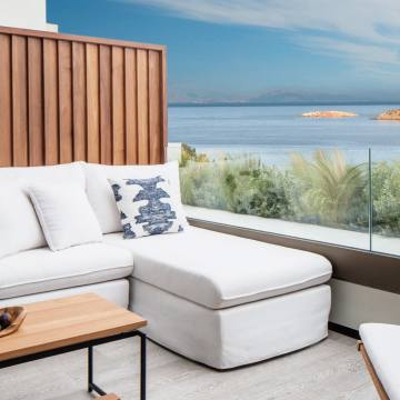 The terrace of the Nafsika Sea View Room at Athens' new Four Seasons