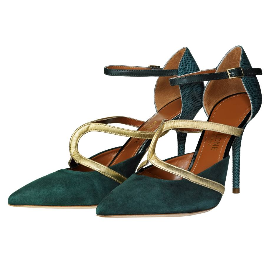 Malone Souliers Veronica shoes in snakeskin, suede and leather, £495