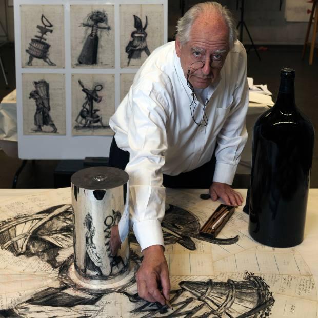 William Kentridge in his studio