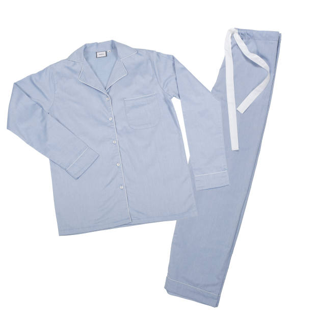 Poplin cotton pyjama set, £115