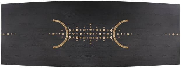 IngridDonat walnut and bronze Tribal table, price onrequest, from Carpenters Workshop Gallery