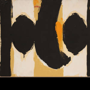Elegy to the Spanish Republic No.60 by Robert Motherwell, price on request from Bernard Jacobson Gallery
