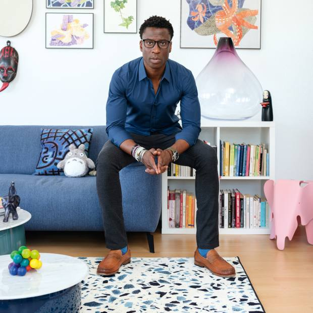 Ini Archibong at home in Neuchâtel