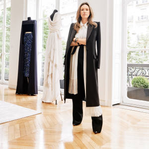 Givenchy creative director Clare Waight Keller at the brand's Parisian HQ