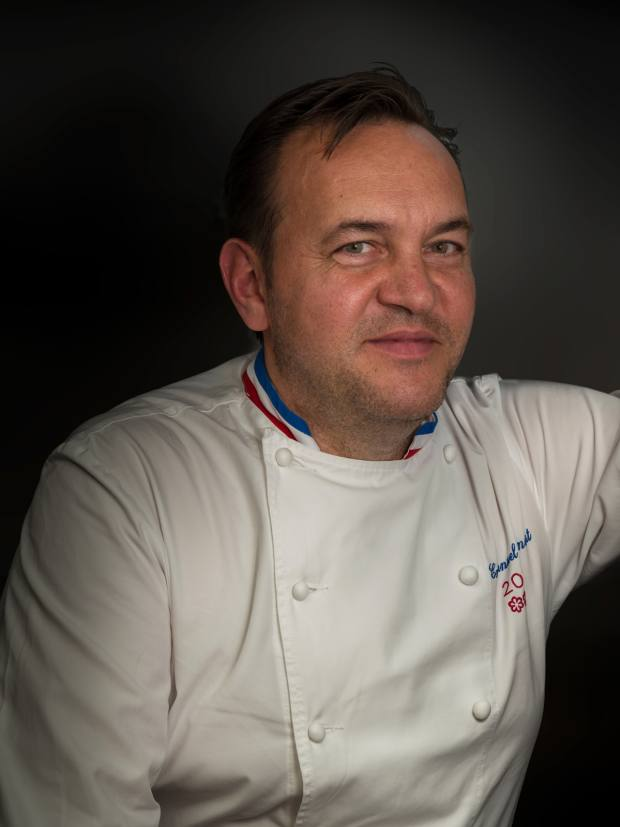 Renaut is the three-Michelin-starred chef of Megève's Flocons de Sel