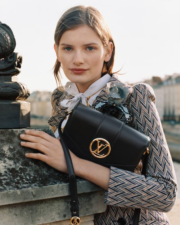 The mid-size shoulder bag is available from 29 May in black, cream and a summer gold, with styles in muted mid-blue and rose-pink leather joining the collection on 26 June