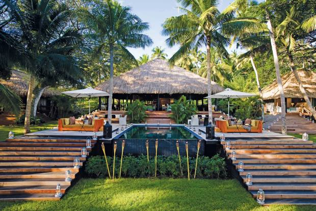 The exclusive-use Dolphin Island resort, off the northern coast of Viti Levu