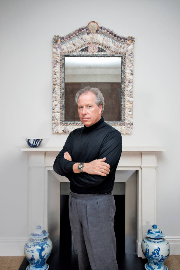 Lord Snowdon at home in London sporting the Breitling Co-Pilot that belonged to his father
