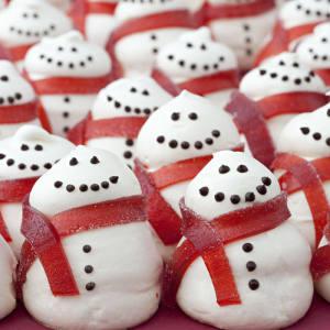 Peyton and Byrne meringue snowmen