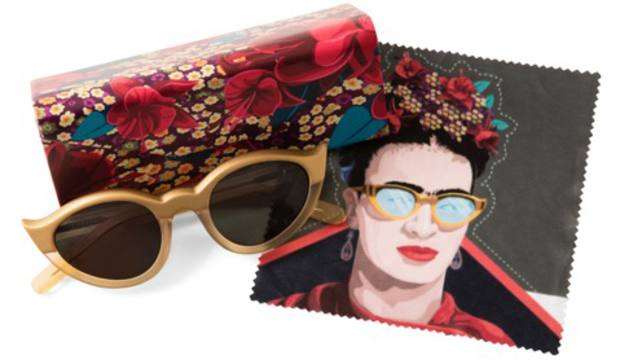 Retro Peepers has reproduced Kahlo's gold cat-eye sunglasses in limited edition modern acetate (£150) at Anthropologie