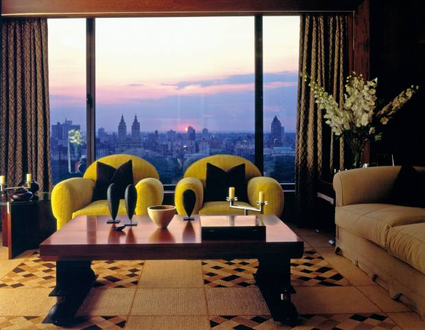 Rooms boast sweeping views of the city
