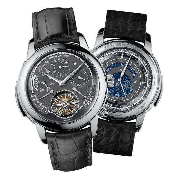 Front and back of the Vacheron Constantin white-gold Maître Cabinotier Astronomica, price on request