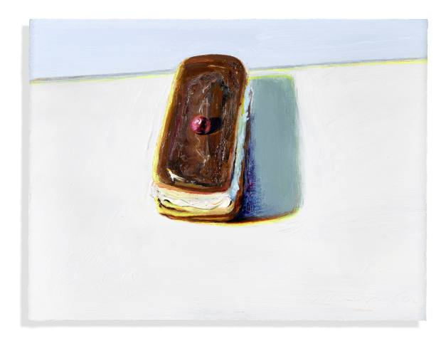Chocolate Eclair (2002) by Wayne Thiebaud, estimated at £540,000 to £770,000