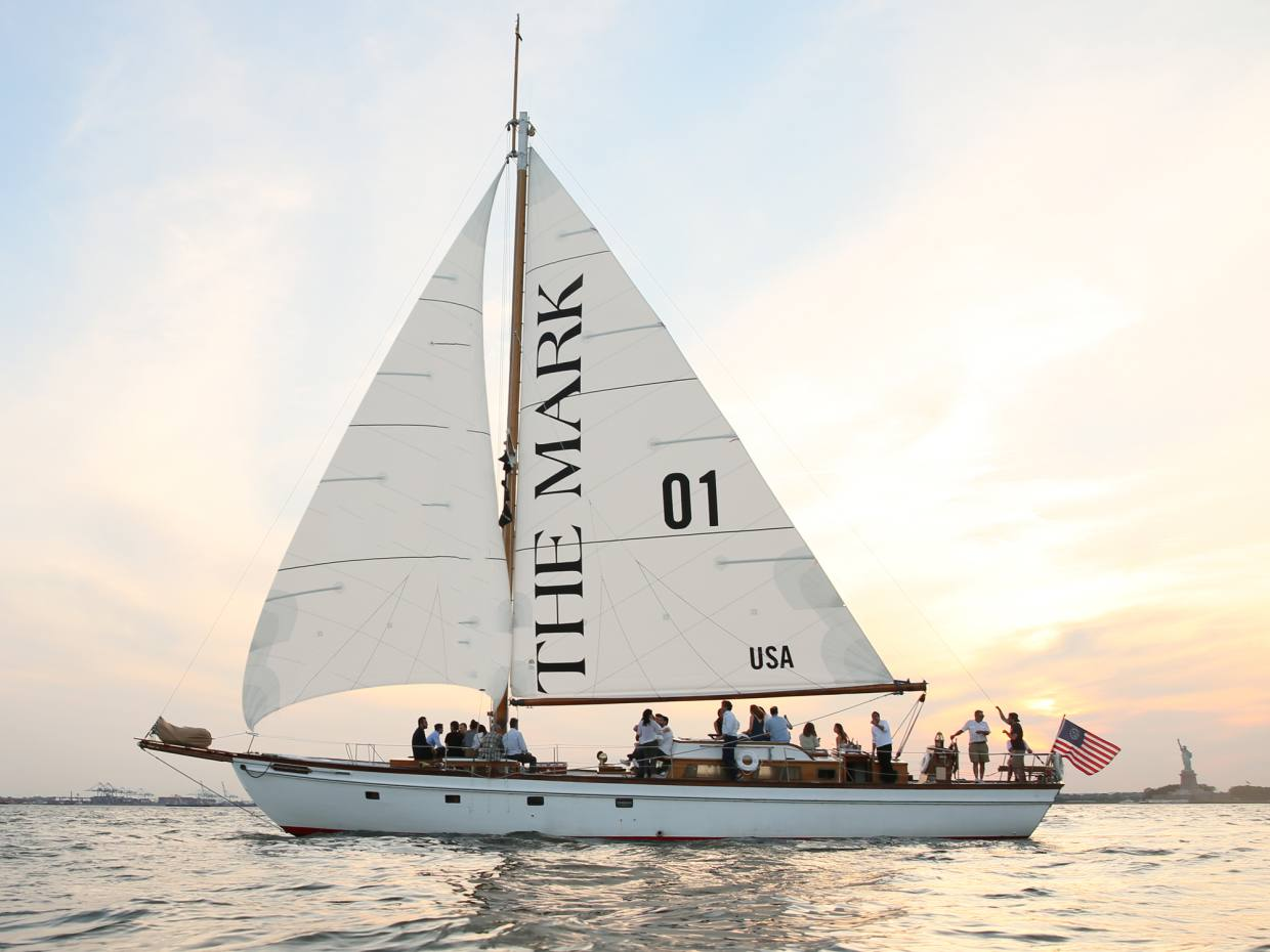 Guests on the yacht will enjoy views of the Statue of Liberty and Ellis Island