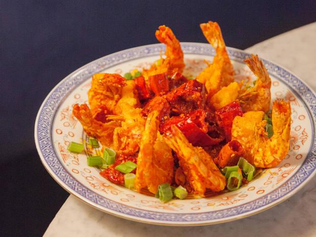 Kung fu shrimp, $25