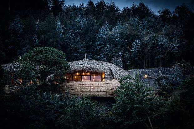 Bisate Lodge in the lush Virungas forest of Rwanda