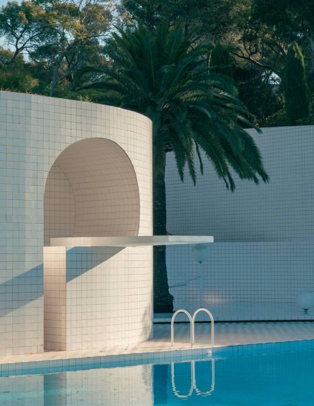Alain Capeillères' pool in Six-Fours-les-Plages, Var