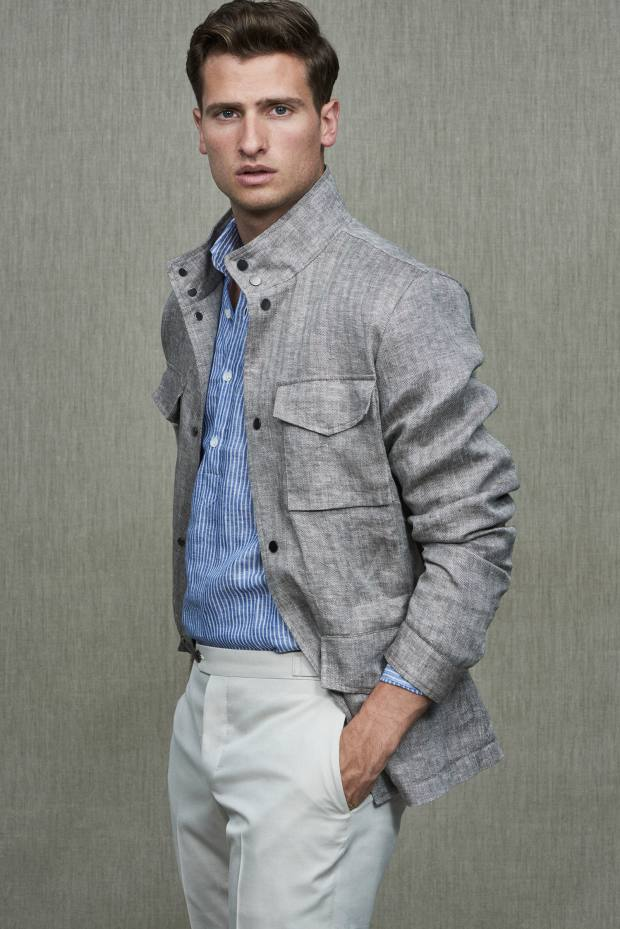Thom Sweeney linen herringbone field jacket, £1,640
