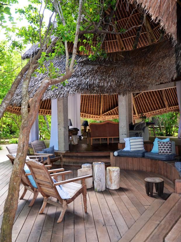 &Beyond Casa Marjani villa's outside living area on Vamizi Island