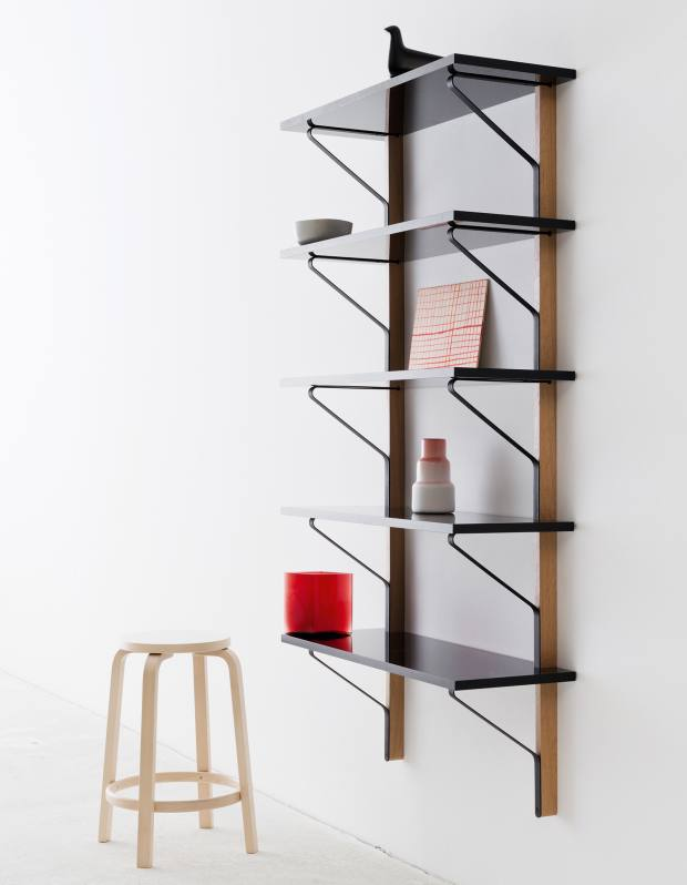 Wood and metal Kaarl Collection Tall Shelf for Artek, price on request