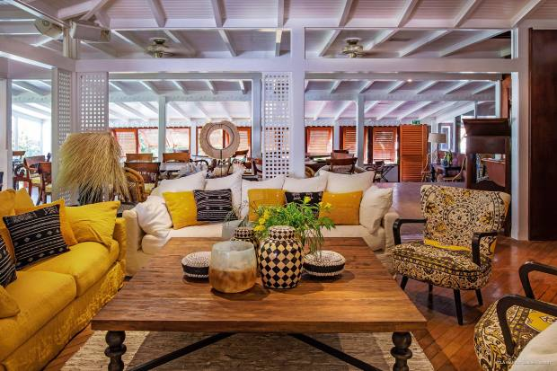 Bright colours combine with eclectic furnishings at the plantation-style Villa Marie Saint-Barth