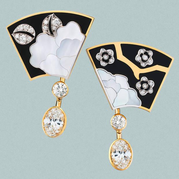 Chanel Fleur de Laque earrings, price on request