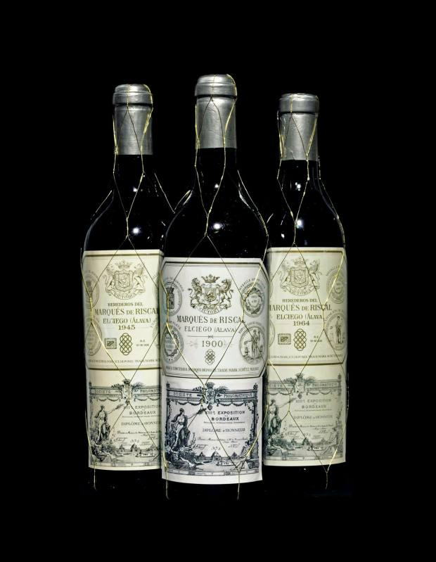 Marqués de Riscal from 1945, 1900 and 1964.