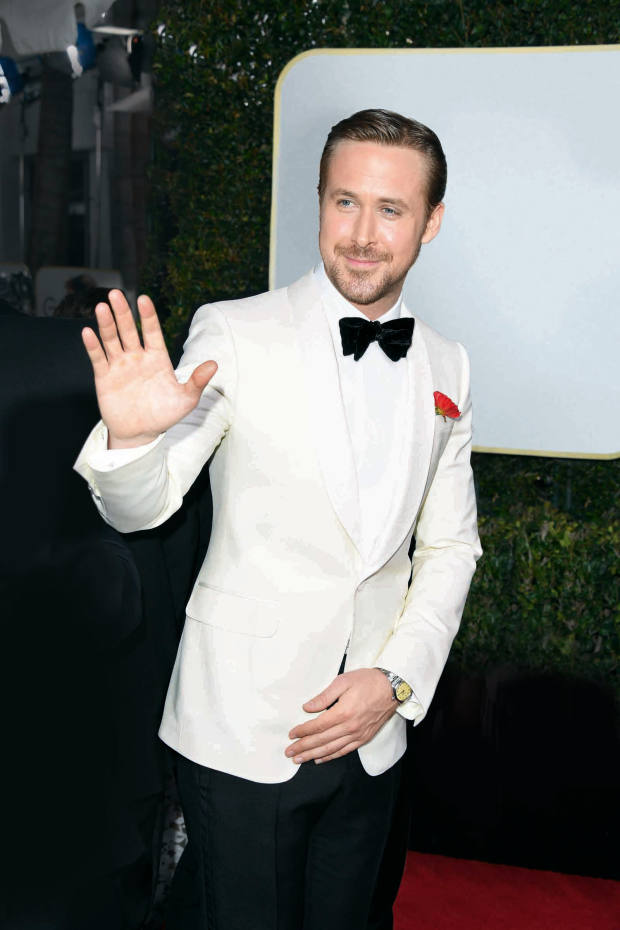 Ryan Gosling reveals a vintage Rolex at the 2017 Golden Globes