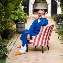 Jasper Conran at the Caidal palace he turned into L'Hôtel Marrakech