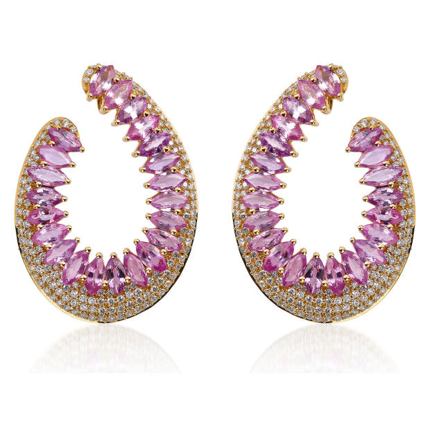 Hueb rose gold, diamond and pink sapphire Mirage earrings, $10,820