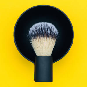 Morrama shaving brush and bowl, £145