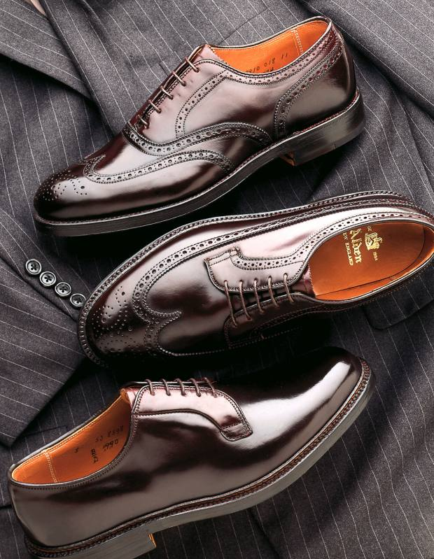 Alden shoes in Cordovan leather.
