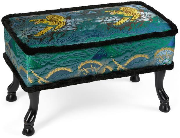 Tiger jacquard stool, €2,700