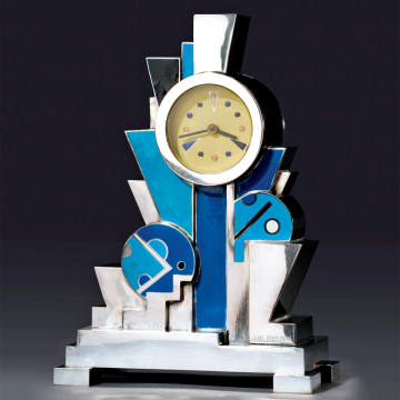 1928 Jean Goulden enamel clock, $3m, from Kelly Gallery