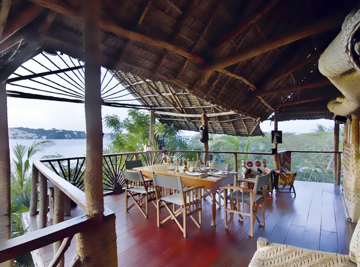 View from the restaurant at Majlis hotel, Lamu.