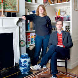 Ben Pentreath and store manager Bridie Hall in Pentreath's London store.