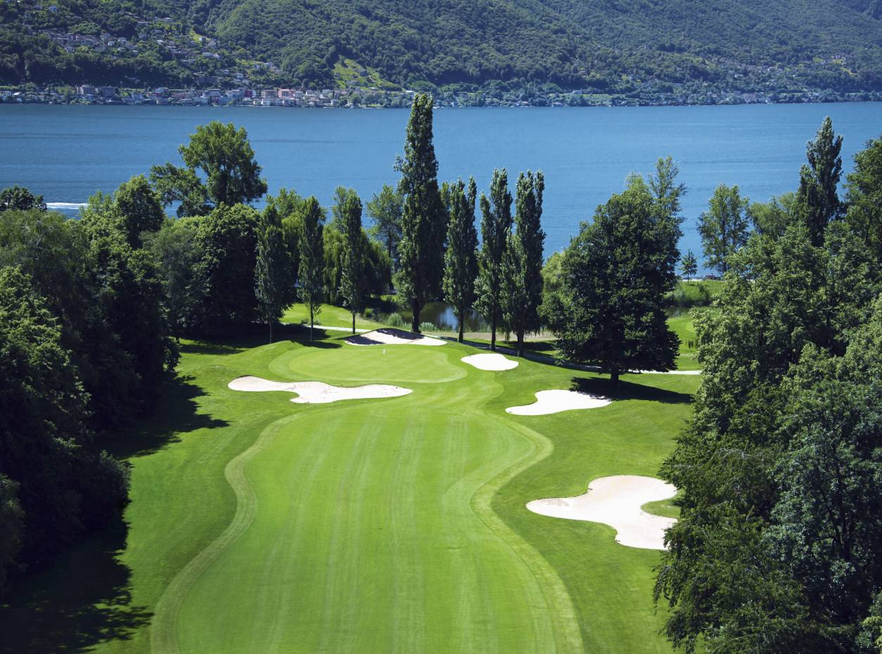 "Looking out from the 11th to Lake Maggiore at Golf Club Patriziale, a ""serious challenge"", says John Gibb."