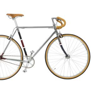 Hackett Cooper Single Speed bike, in chrome with Brooks Swallow leather saddle, £1,295