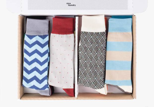Nice Laundry's six-pair sock box costs $59