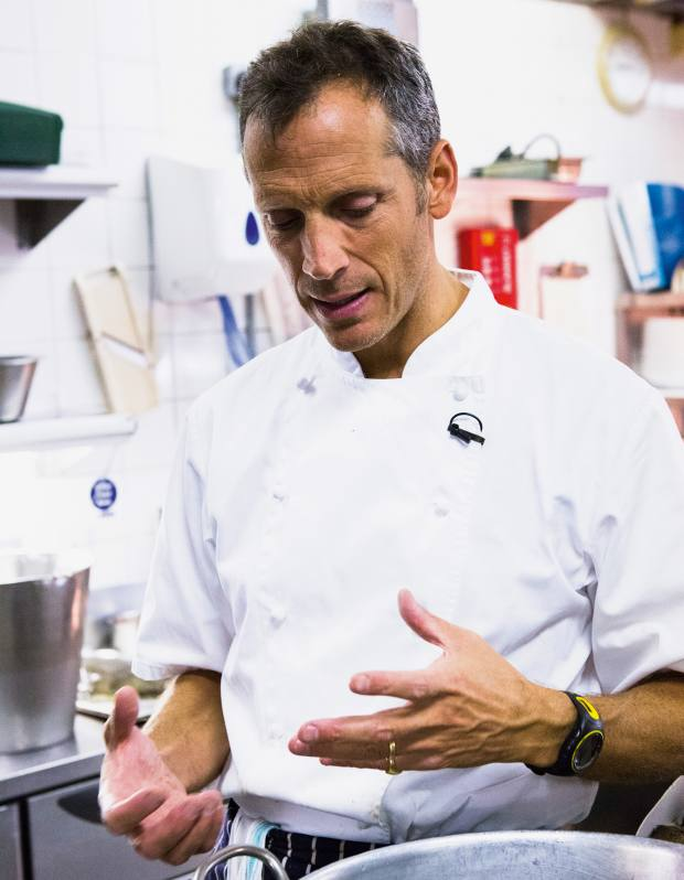 Chef Phil Howard, who uses Tog knives