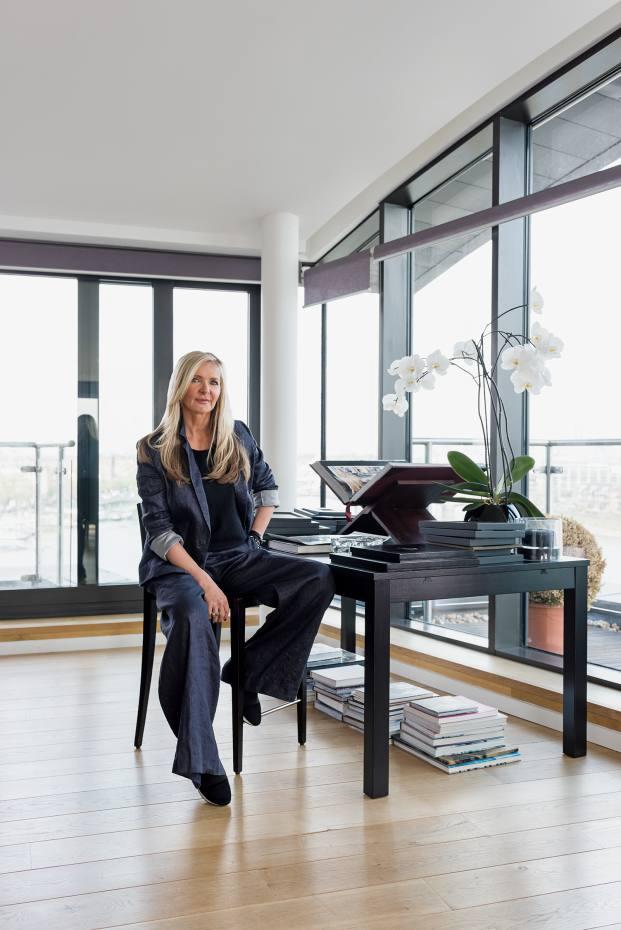 Amanda Wakeley at home in London