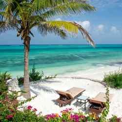 Mswakini beach in Zanzibar, alongside which Zawadi's nine villas sit.