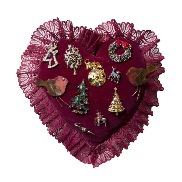 Selection of Christmas brooches, from £15.