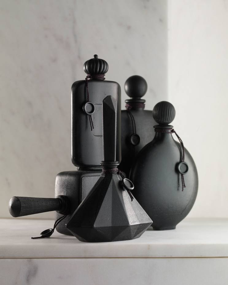 Liza Witte Silhouette collection soap, which looks like sculptural bottles, €80 each