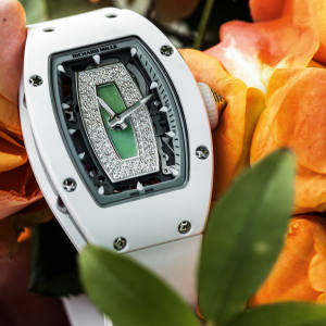 Richard Mille diamond, jade and ceramic RM 07-01 on rubber strap, £111,000