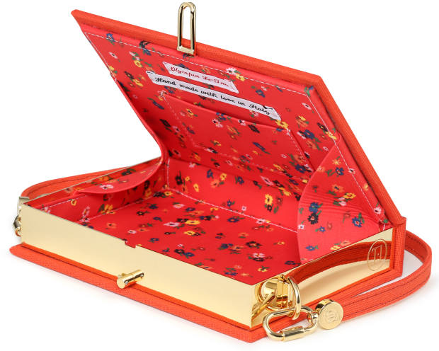 "Olympia Le-Tan is known for its novel ""book-style"" box clutch bags"