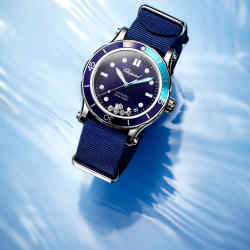 Chopard steel Happy Ocean on fabric strap, £6,750