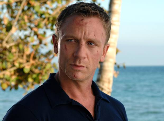 Daniel Craig wearing the tailored Riviera polo shirt in his role as 007