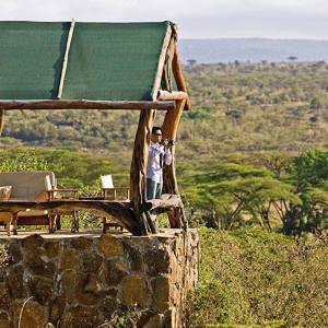 A verandah atEagle View lodge in Kenya.